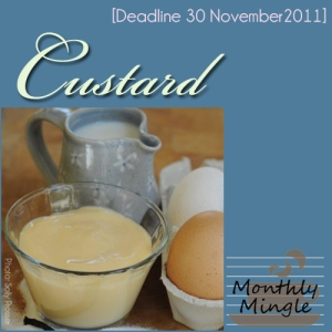 Monthly Mingle badge November Custard theme