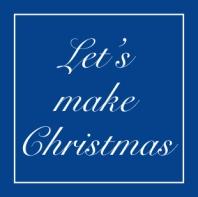Lets make christmas logo