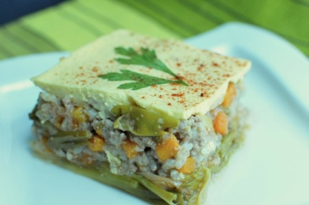 Leek and rice moussaka - Assia's Kaleidascope