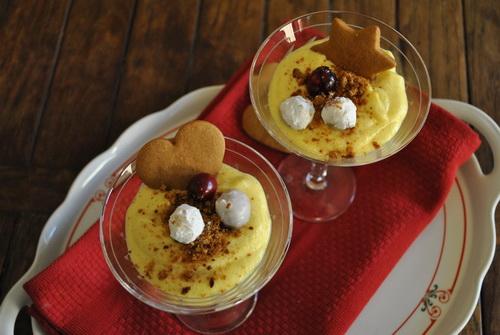 Cranberry Custard Dessert - Naked Plate