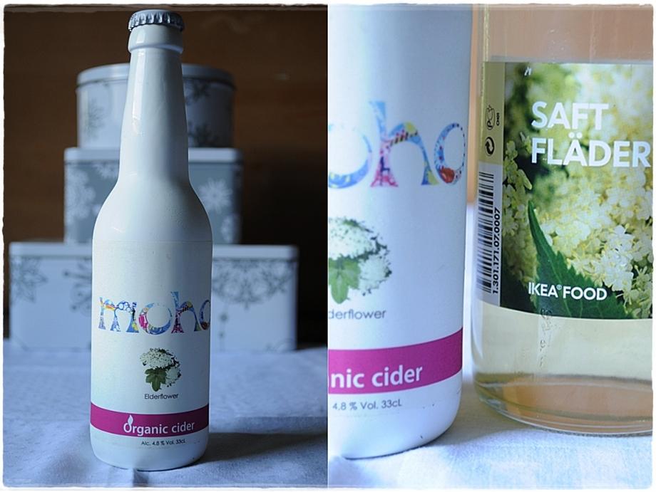 elderflower cider and elderflower syrup