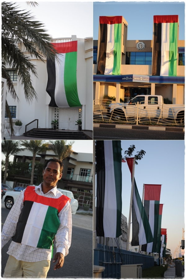 Flags from UAE National Day 40th anniversary