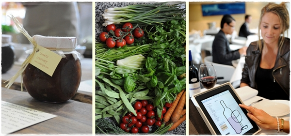 Artisan chutney, local vegetables, ipad menus