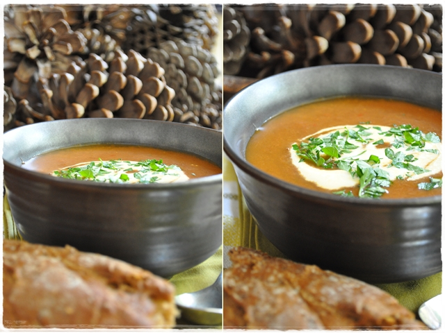Goulash soup and bread