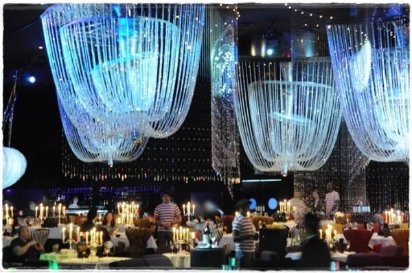 The interior of the Cavalli Club Dubai