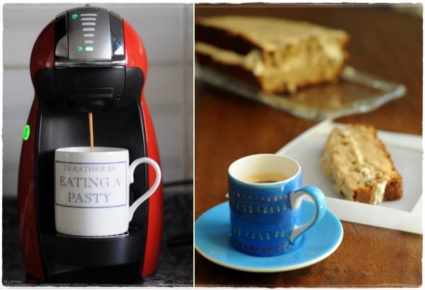 Coffee machine and cake