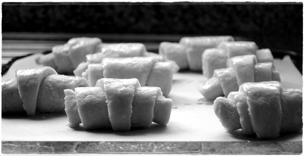 Croissants proving