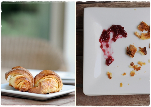 Croissants and plate