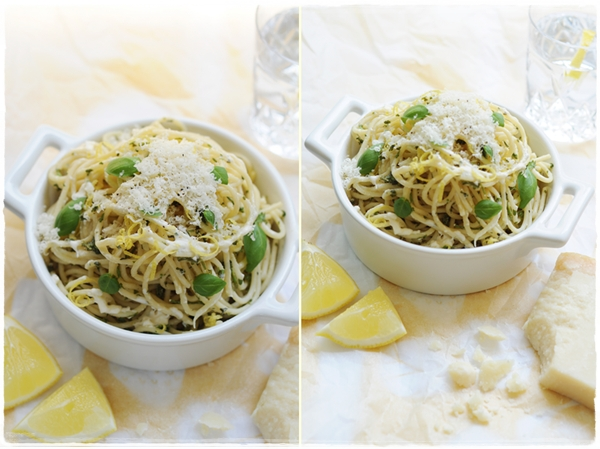 lemon and fresh herb pasta