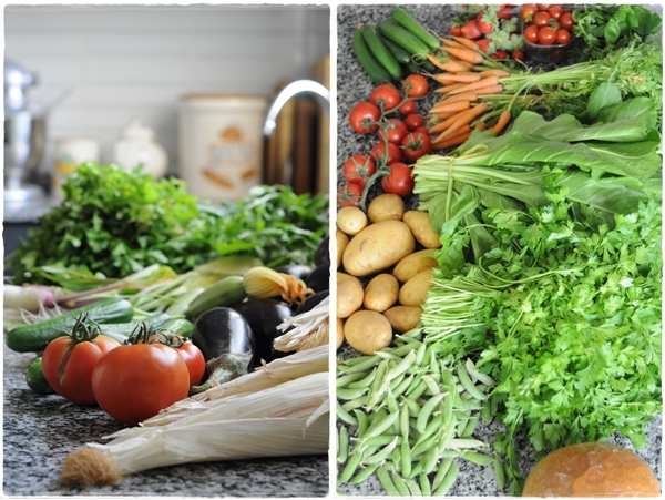 Organic vegetables and fruit