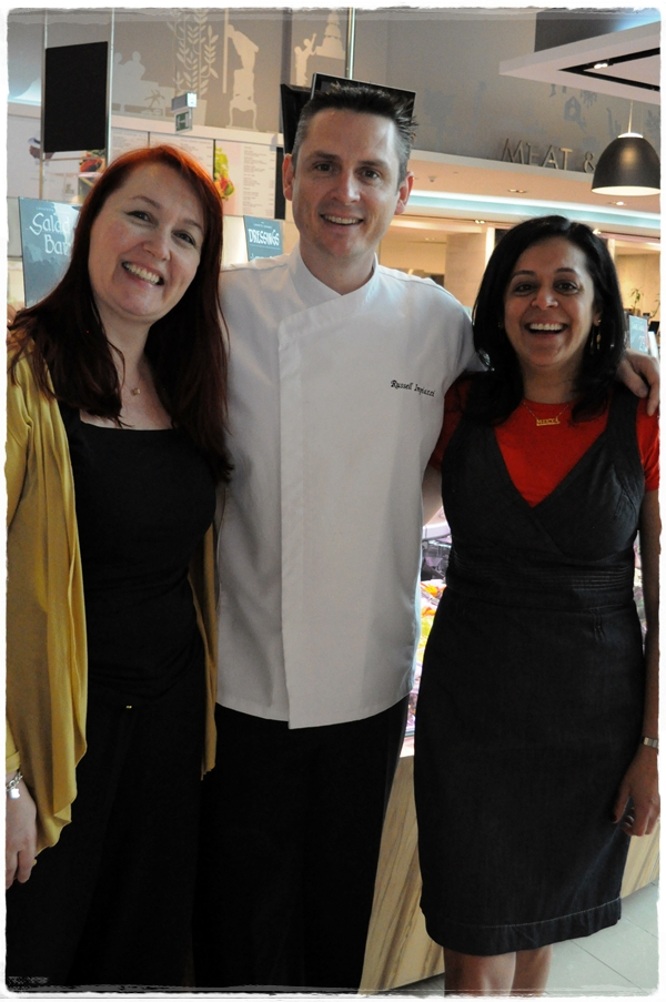 Chef Russell with Minna and Meeta