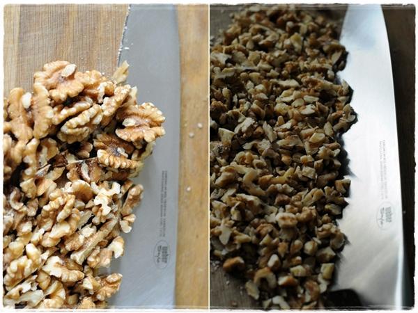 Chopping walnuts