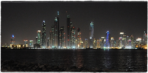 View across to Dubai Marina