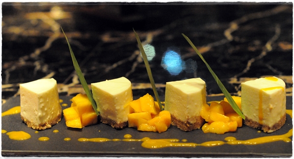 mango cheesecake at Mango Tree Dubai