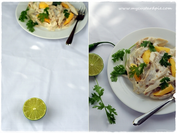 Coronation chicken Thai-style