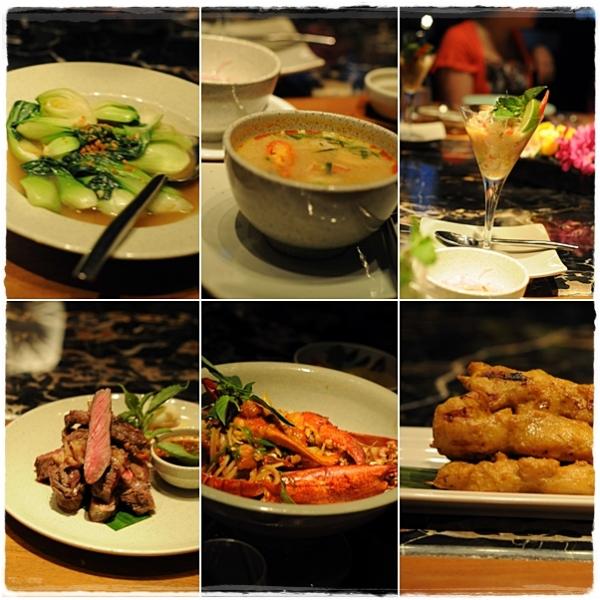 A range of dishes a the Mango Tree dubai