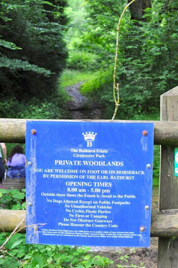 sign as we enter Bathurst estate