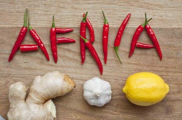 Africa - chillies, lemon, ginger, garlic
