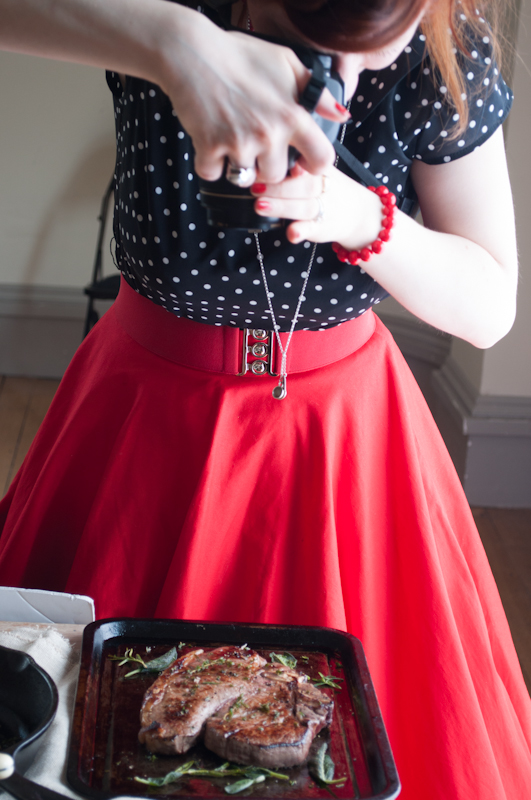 Miss Foodwise with camera - My Custard Pie