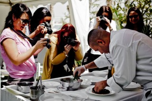 Food photography in action at Atlantis