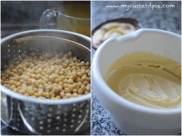 chickpeas and hummus