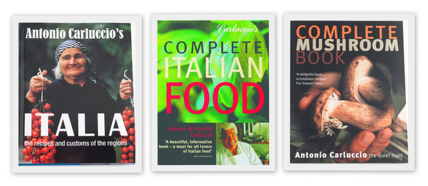 Three books by Antonio Carluccio