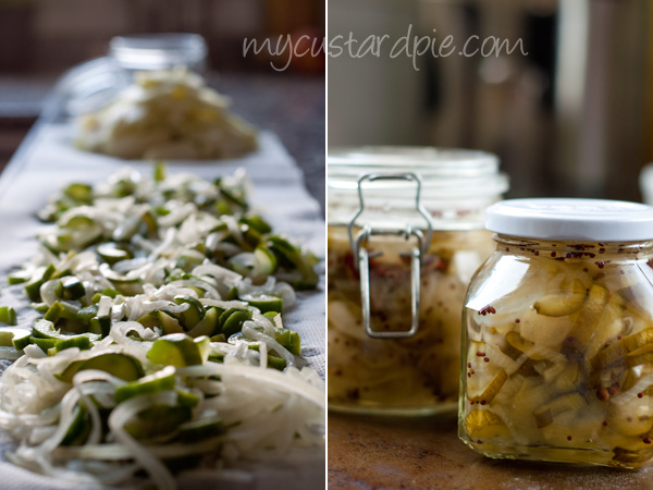 Apple, cucumber and mint pickle