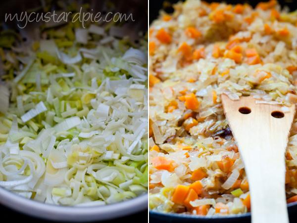leeks onions and carrots