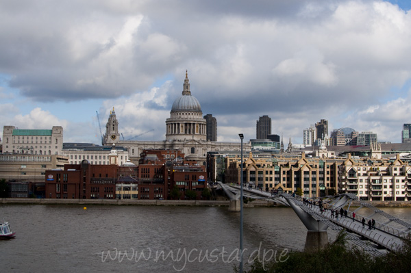 The view to St Pauls from the Tate Modern