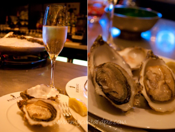 Oyster tasting at Rostang