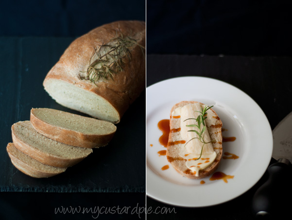 Rosemary bread with parmesan