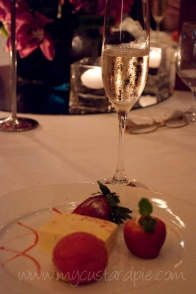 A glass of Taittinger Champagne