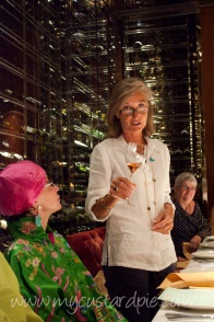 Isabelle host the women and wine lunch