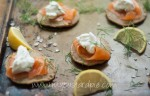 Blinis with smoked salmon – mycustardpie.com