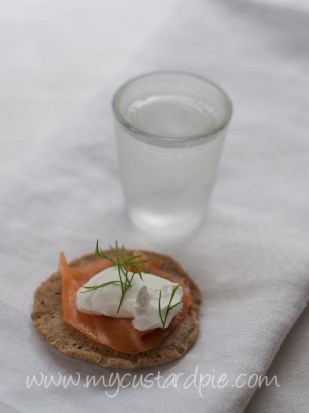 Vodka and blini - mycustardpie.com