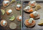 Smoked salmon and blinis – mycustardpie.com