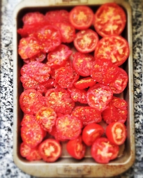 tomatoes ready for the oven