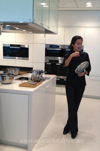 Chef Marta Yanci at the Miele kitchen