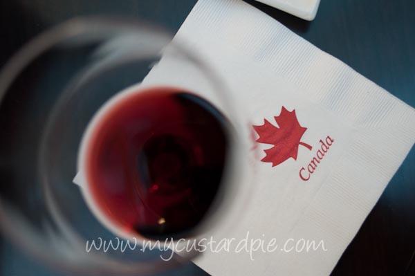 Candian wine tasting
