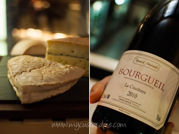 Wine and cheese - My Custard Pie