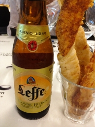 Beer and cheese straws