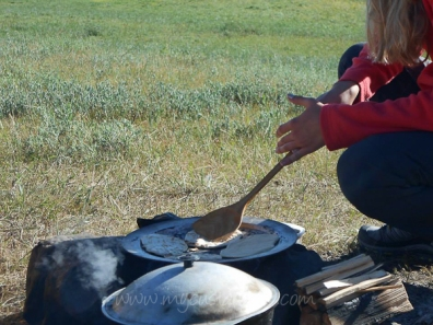 Cooking at camp