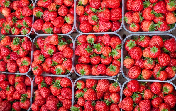 English strawberries