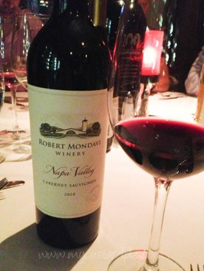 Robert Mondavi wine dinner