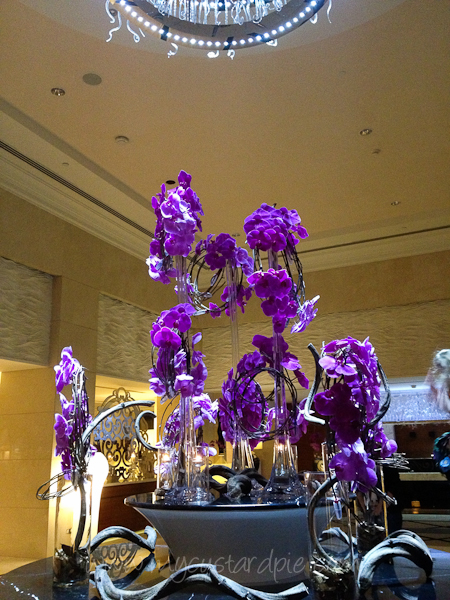 Stunning flowers in the lobby at the Westin