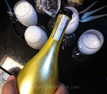 Gold bottled prosecco
