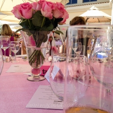 Pink glittery table settings