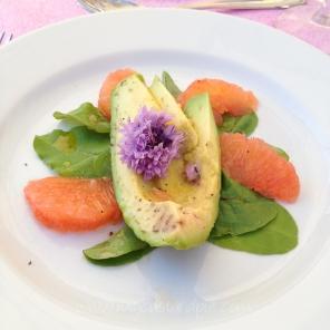 avocado and pink grapefruit salad