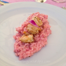 Pink risotto