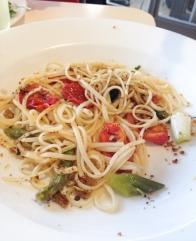 Tomato pasta - half demolished